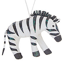 Buy John Lewis Grand Tour Zebra Tree Decoration Online at johnlewis.com