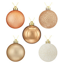 Buy John Lewis Helsinki Shatterproof Baubles, Tub of 20 Online at johnlewis.com