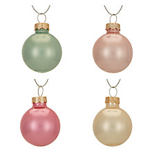 Buy John Lewis Ostravia Mini Baubles, Tub of 28 Online at johnlewis.com