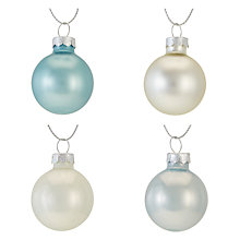Buy John Lewis Snowshill Mini Baubles, Tub of 28 Online at johnlewis.com