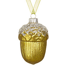Buy John Lewis Snowshill Acorn Bauble Online at johnlewis.com