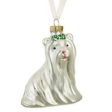 Buy John Lewis Ostravia Maltese Dog Bauble Online at johnlewis.com