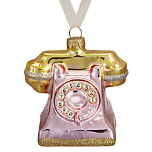 Buy John Lewis Ostravia Telephone Bauble, Pink Online at johnlewis.com