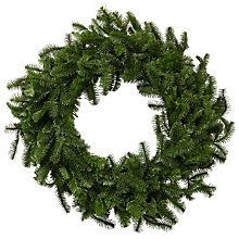 Buy John Lewis Pre-lit LED Nordmann Fir Wreath Online at johnlewis.com