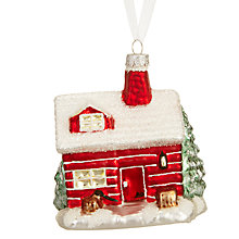 Buy John Lewis Chamonix Santa House Bauble, Red Online at johnlewis.com