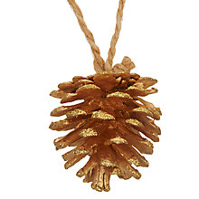 Buy John Lewis Ruskin House Glitter Pine Cones, Box of 12 Online at johnlewis.com