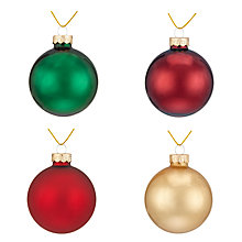 Buy John Lewis Ruskin Baubles, Tub of 20 Online at johnlewis.com