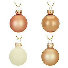 Buy John Lewis Helsinki Mini Baubles, Tub of 28 Online at johnlewis.com