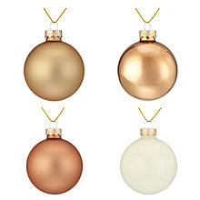 Buy John Lewis Helsinki Baubles, Tub of 20 Online at johnlewis.com