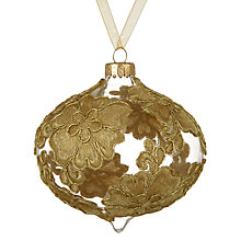 Buy John Lewis Ruskin House Lace Onion Bauble, Gold Online at johnlewis.com