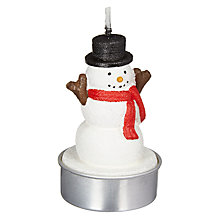 Buy John Lewis Grand Tour Snowman Tealights, Pack of 6, White Online at johnlewis.com