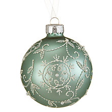 Buy John Lewis Ostravia Lace Swirl Bauble, Green Online at johnlewis.com