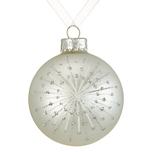 Buy John Lewis Snowshill Firework Bauble, Pearl Online at johnlewis.com