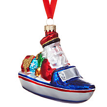 Buy John Lewis Santas Speed Boat Bauble Online at johnlewis.com