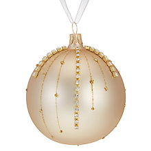 Buy John Lewis Ostravia Gold Stud Droplet Bauble Online at johnlewis.com