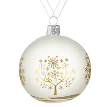 Buy John Lewis Snowshill Golden Tree Bauble Online at johnlewis.com