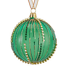 Buy John Lewis Shangri-La Stud Droplet Bauble, Green Online at johnlewis.com