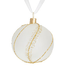 Buy John Lewis Ostravia Mini Gold Twist Opaque Bauble Online at johnlewis.com
