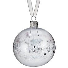 Buy John Lewis Helsinki Glitter Stars Bauble, Clear Online at johnlewis.com