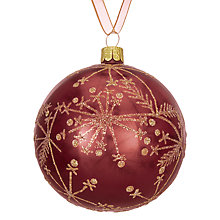 Buy John Lewis Ruskin House Dandelion Bauble, Red Online at johnlewis.com