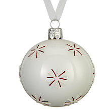 Buy John Lewis Chamonix Snowflake Bauble, Winter White Online at johnlewis.com