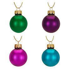 Buy John Lewis Shangri-La Mini Baubles, Box of 27 Online at johnlewis.com