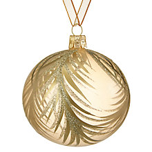 Buy John Lewis Ostravia Feather Detail Bauble, Gold Online at johnlewis.com