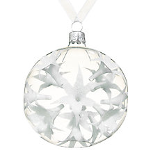 Buy John Lewis Snowshill Indented Flower Bauble, Clear Online at johnlewis.com
