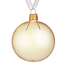 Buy John Lewis Helsinki Copper Bauble, Clear Online at johnlewis.com