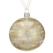 Buy John Lewis Snowshill Sketch Snowflake Bauble, Blue Online at johnlewis.com