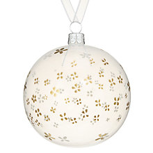 Buy John Lewis Snowshill Opaque Bauble, Gold Petal Online at johnlewis.com