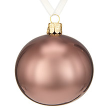 Buy John Lewis Helsinki Pearlised Bauble Online at johnlewis.com