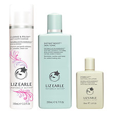 Buy Liz Earle Cleanse & Polish™ Hot Cloth Cleanser Rose & Lavender and Instant Boost™ Skin Tonic with Gift Online at johnlewis.com