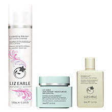 Buy Liz Earle Cleanse & Polish™ Hot Cloth Cleanser Rose & Lavender and Skin Repair Moisturiser™ Dry with Gift Online at johnlewis.com