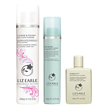Buy Liz Earle Cleanse & Polish™ Hot Cloth Cleanser Rose & Lavender and Skin Repair Moisturiser™ Oily with Gift Online at johnlewis.com