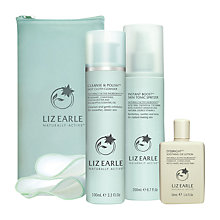 Buy Liz Earle Cleanse & Polish™ Hot Cloth Cleanser with 2 Muslin Cloths and Instant Boost™ Skin Tonic Spritzer with Gift Online at johnlewis.com