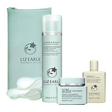 Buy Liz Earle Cleanse & Polish™ Hot Cloth Cleanser with 2 Muslin Cloths and Skin Repair Moisturiser™ Dry with Gift Online at johnlewis.com