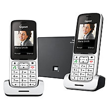 Buy Gigaset SL450A Go Digital Cordless Bluetooth Telephone with Answering Machine, ECO-DECT, Duo Online at johnlewis.com