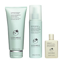 Buy Liz Earle Cleanse & Polish™ Hot Cloth Cleanser and Instant Boost™ Skin Tonic Spritzer with Gift Online at johnlewis.com