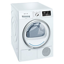 Buy Siemens WT45H200GB Freestanding Heat Pump Condenser Tumble Dryer, 8kg Load, A++ Energy Rating, White Online at johnlewis.com
