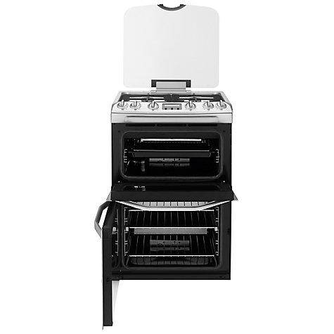 buy john lewis jlfsgc616 gas cooker stainless steel. Black Bedroom Furniture Sets. Home Design Ideas