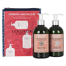 Buy L'Occitane Aromachologie Repairing Hair Care Duo Online at johnlewis.com