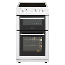 Buy Belling FS50EDOFC Freestanding Electric Cooker, Black Online at johnlewis.com