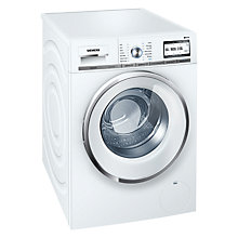 Buy Siemens iQ700 WMH6Y790GB Freestanding Washing Machine with Home Connect, 9kg Load, A+++ Energy Rating, 1600rpm Spin, White Online at johnlewis.com