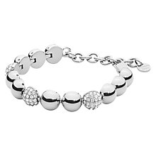 Buy Dyrberg/Kern Crystal Tennis Bracelet, Silver Online at johnlewis.com