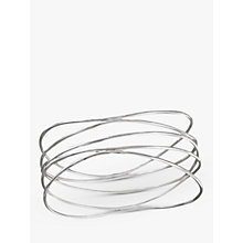 Buy Nina Breddal Sterling Silver Swiggle Band Bracelet, Silver Online at johnlewis.com