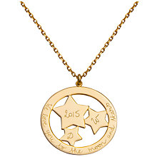 Buy Merci Maman Personalised Constellation Pendant Necklace Online at johnlewis.com