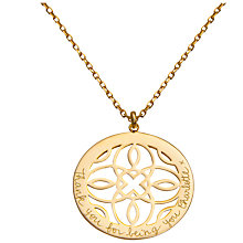 Buy Merci Maman Personalised Arabesque Pendant Necklace Online at johnlewis.com