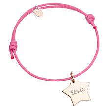 Buy Merci Maman Personalised Star Bracelet Online at johnlewis.com