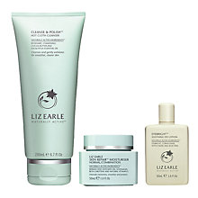 Buy Liz Earle Cleanse & Polish™ Hot Cloth Cleanser and Skin Repair Moisturiser™ Normal with Gift Online at johnlewis.com